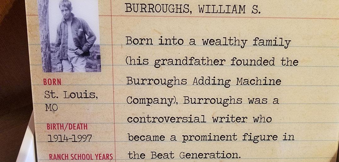 William Burroughs as teenager